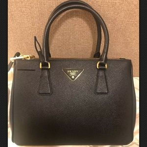 PRADA Saffiano Lux Double Zip Bag